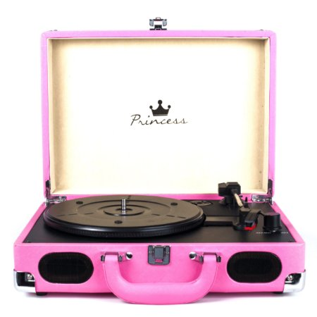 Vitrola Toca Discos Princess 2 Pink