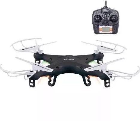 Drone Quadricóptero X5 Explorer 4-Canais (Preto)