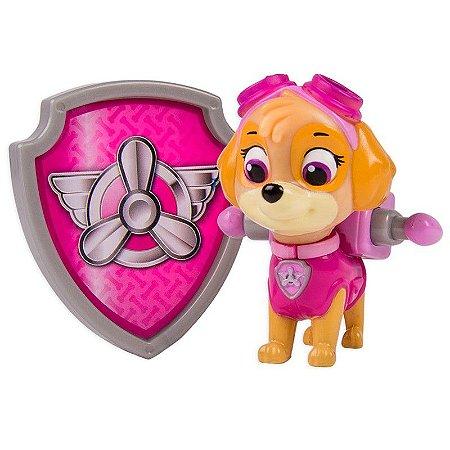 Boneco Com Distintivo Patrulha Canina Skye Sunny