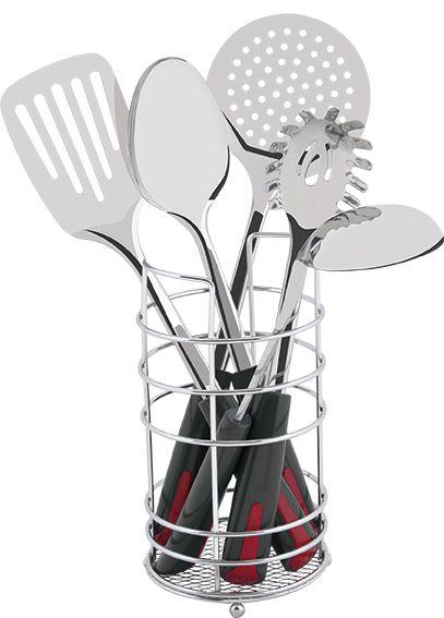 Conjunto Utensílios Para Cozinha Inox 6 Peças MOR