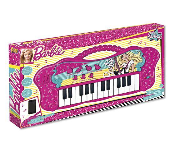 Teclado Barbie Com Função Mp3