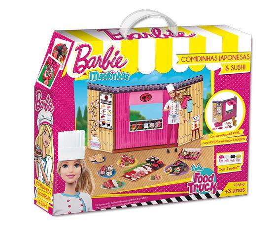 Massinha Barbie Food Truck Comidinha Japonesa