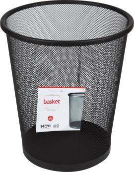 Cesto De Lixo De Aço Basket 16 Litros Preto 8236 Mor