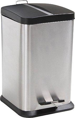 Lixeira Quadrada Jaspe 12 litros - Mor