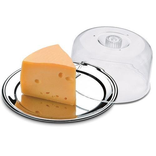 Conjunto Petúnia 2 Peças para Queijo em Aço Inox 1527/123 - Brinox - Transparente