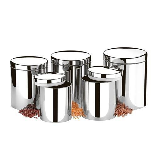 Conjunto de potes Brinox com tampa para mantimentos 5 peças - 2100/101 - Prata