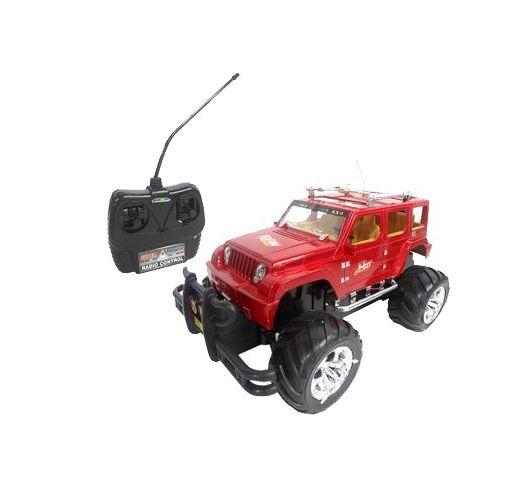 Carro Controle Remoto 7 Funções - Super Jipe 4x4 Vermelho (14787)