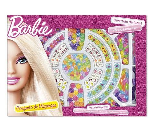 Conjunto de Miçangas Barbie c/ 100 peças  6991-3