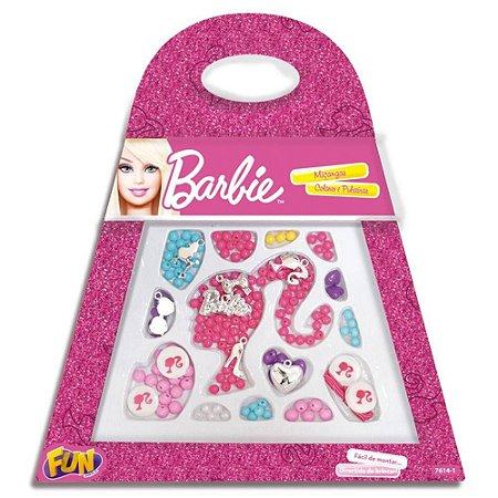 Conjunto de Miçangas, Colares e Pulseiras Bolsa Barbie 7614-2
