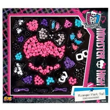 Conjunto de Miçangas Black Skull Monster High - 7614-6