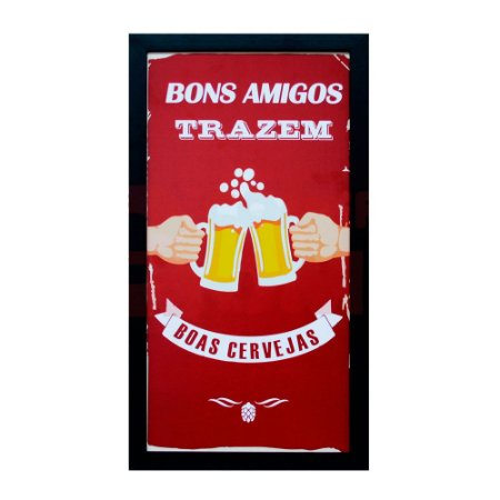 Porta Tampas de Cerveja Bons Amigos (102764)