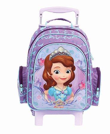 Mochila de Rodinhas Mochilete Escolar Média Disney Princesinha Sofia (49085)