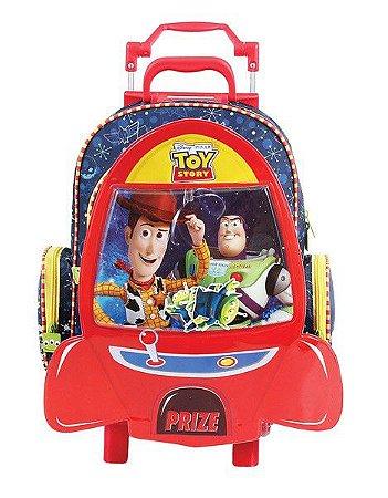 Mochila de Rodinhas Mochilete Escolar Grande Disney Toy Story Foguete (37272)