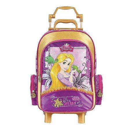 Mochila de Rodinhas Mochilete Escolar Grande Disney Rapunzel (37250)
