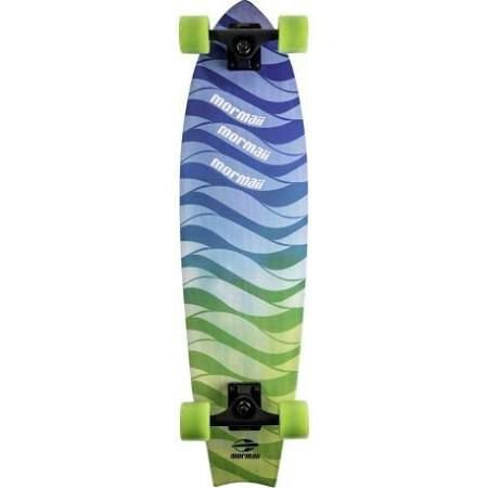 Skate Mormaii Cruiser Fishtail Estampa Ondas Verde e Azul (461200)