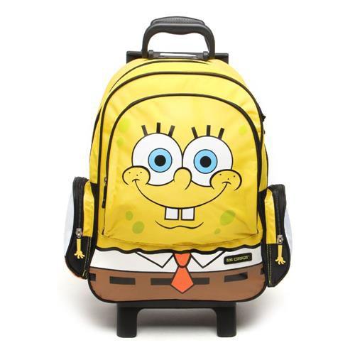 Mochila de Rodinhas Mochilete Escolar Grande Nickelodeon Bob Esponja (48871)