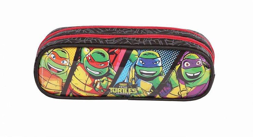 Estojo Escolar Duplo DMW Tartarugas Ninja 49110