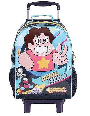 Mochila de Rodinhas Mochilete Escolar Grande DMW Cartoon Network Steven Universo (49108)