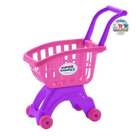 Carrinho de compras ref 691 - rosa e roxo