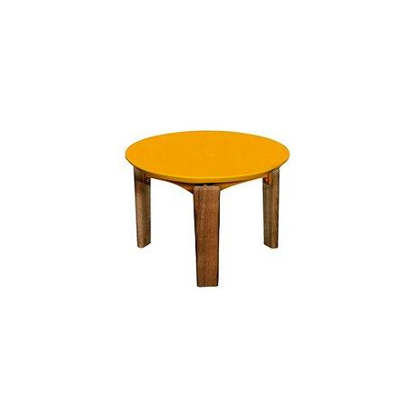 Mesa Hortência Pequena Amarela + Base