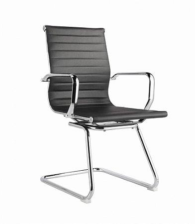 Cadeira Office Sevilha Fixa Baixa Preta