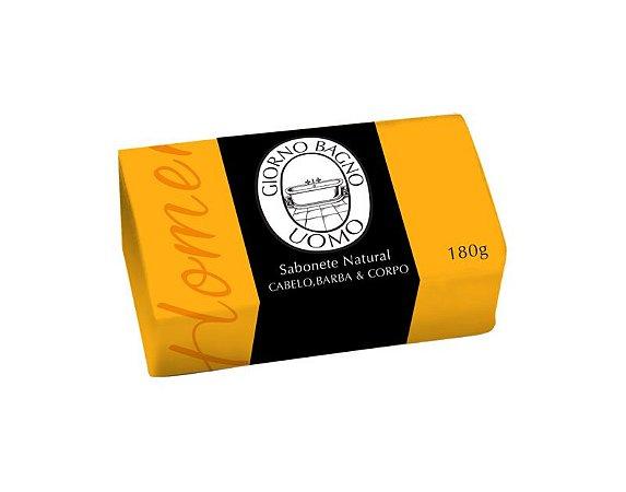 Sabonete em Barra Uomo Amarelo 180g - Giorno Bagno