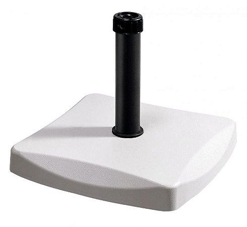 Base 25 Kg para Ombrellone Concreto Quadrado Branco (26501)