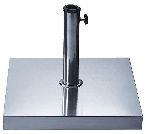 Base Quadrada para Ombrellone 40kg com Revestimento em Aço Inox 27600