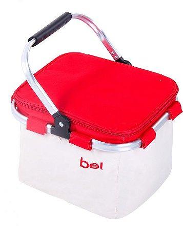Bolsa Cooler Térmica 24 Latas c/ Alça de Alúminio Vermelho 52600