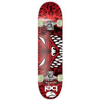 Skateboard Semi-Pro Rodas PU Vermelho e Preto