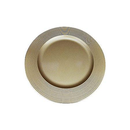Sousplat Disco Dourado (SP13716)