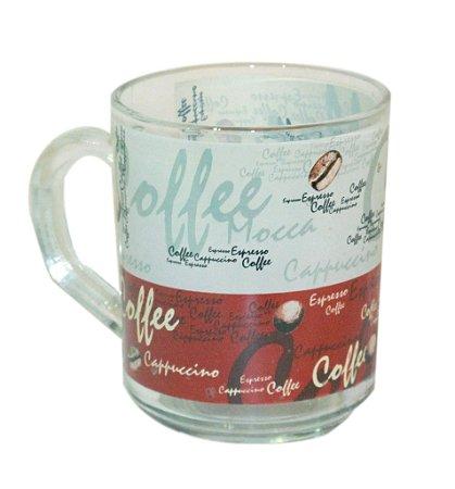 Jogo 6 Copos de Vidro Coffee Glass Ware
