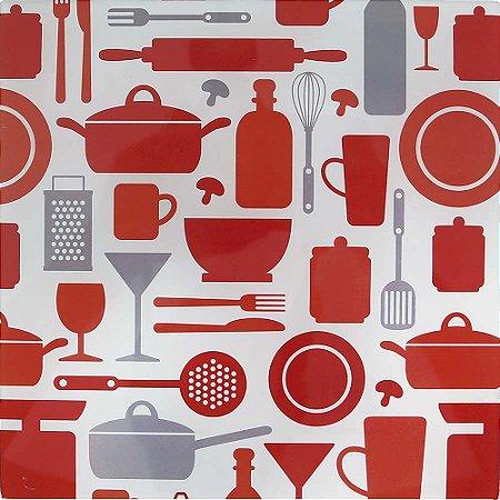 Apoio para Panela Vidro Temperado - Doce Cozinha Laranja