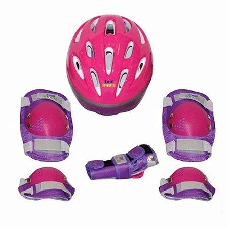 Kit Proteção Radical Capacete Rosa M