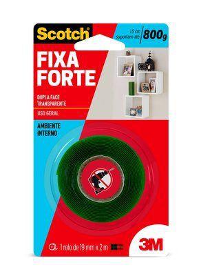 Fita Dupla Face Fixa Forte Transparente Interno 19mmx2mt CM0133-HM(A) - 3M