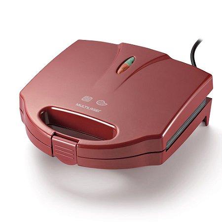 Sanduicheira e Grill 750w - Vermelha 220V CE040 Multilaser