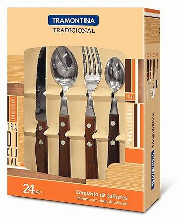 Faqueiro Tradicional 24 peças Tramontina - 22299/050