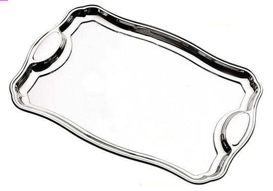 Bandeja retangular Classic aço inox 420 x 295mm - 61440/420
