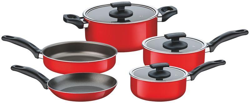 Jogo de panelas Toronto 5 peças Vermelho - 20499/734