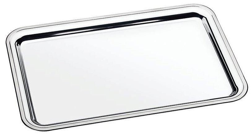 Bandeja retangular aço inox 491 x 331mm