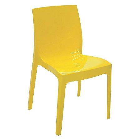 Cadeira Alice amarela brilhosa 92037/000