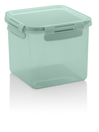 Pote Click Quadrado 1500ml Verde CL 2200
