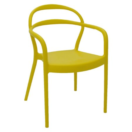 Cadeira Sissi com braços amarela Tramontina - 92045/000