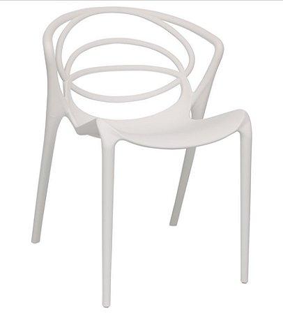 Cadeira de Plastico Fixa Olympia Branca
