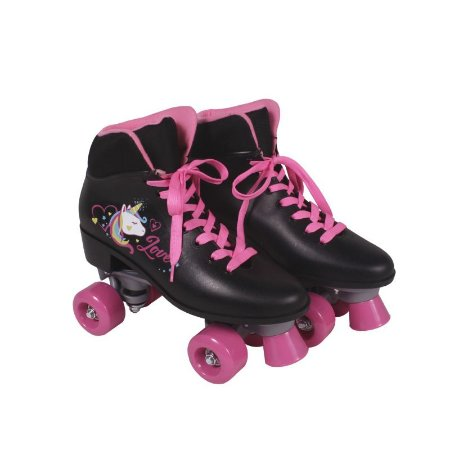 Patins Quad Love Unicornio Preto - Tam. 36 383600