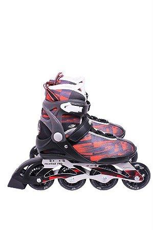 Inline Rollers Mormaii Vermelho Nº 35 374500 Bel Fix