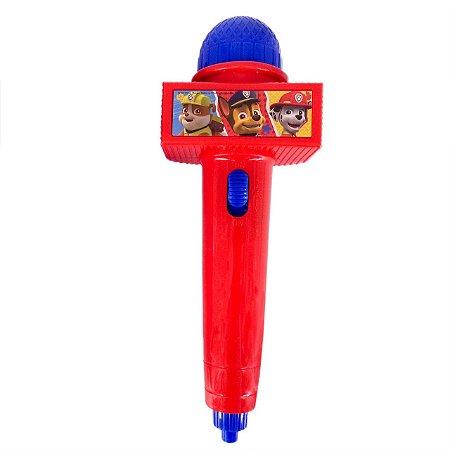 Microfone Infantil com Eco e Luz - Vermelho - Patrulha Canina 32427