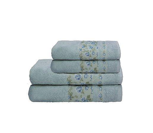 Toalha Lilly Por Cor Banho 70X140 Azul R6739