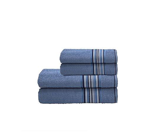 Toalha Acqua Por Cor Banho 62X130 Azul R7002