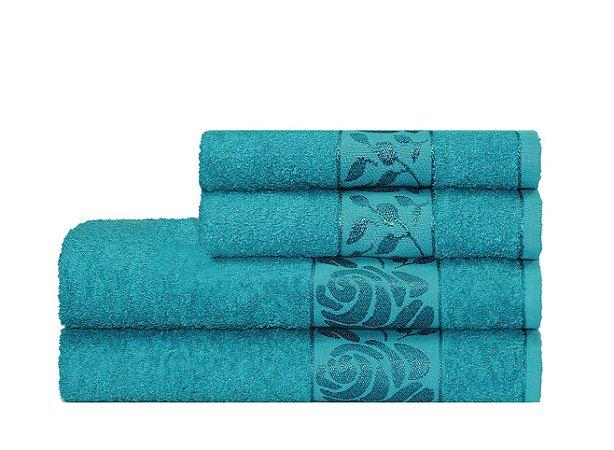 Toalha Donna de Rosto 45X70 Azul Escuro - Camesa